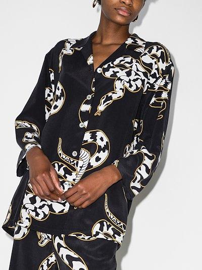Casablanca Ciro Snake Print silk pyjamas