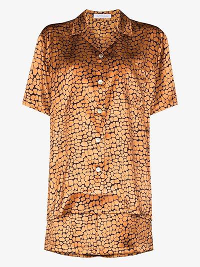 Emeli Jinx Leopard print silk pyjamas