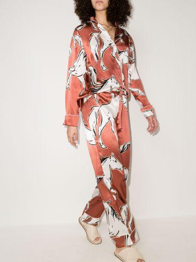 Lila Charme printed silk pyjamas