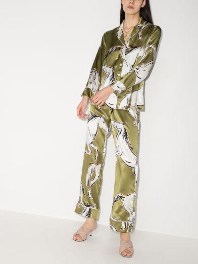 Lila Chevalier printed silk pyjamas