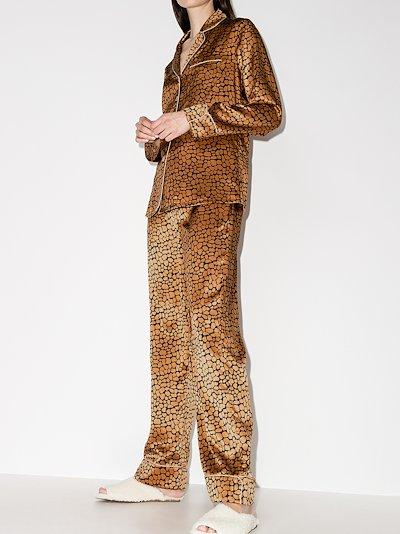 Lila Jinx leopard print silk pyjamas
