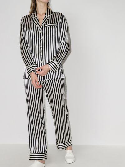 Lila Nika striped silk pyjamas