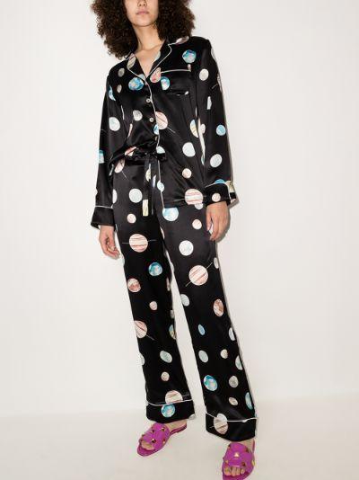 Lila Selene printed silk pyjamas