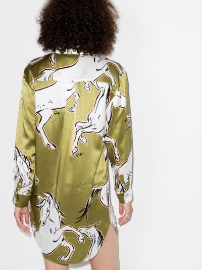Poppy Chevalier printed silk nightdress