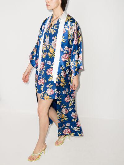 Queenie Arlequine printed silk robe