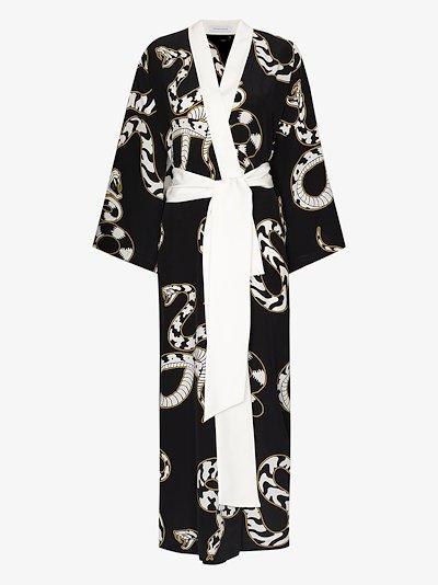 Queenie Ciro snake print silk robe