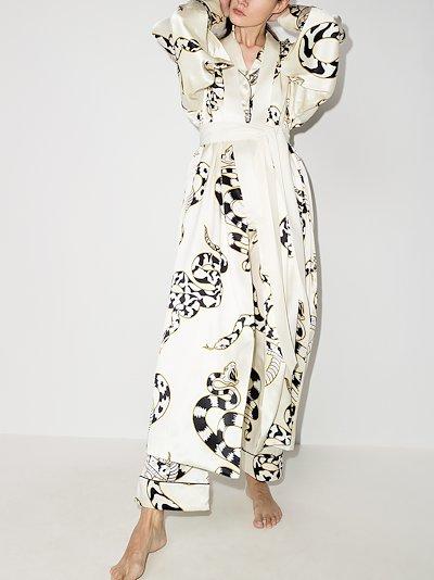 Queenie Sassoon snake print silk robe