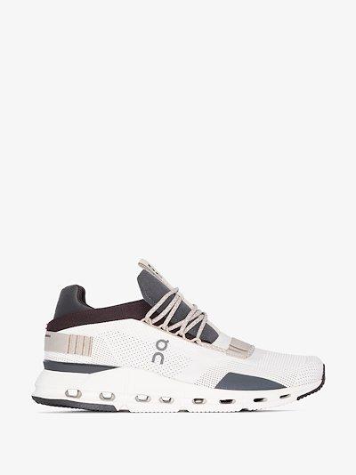 white cloudnova low top sneakers