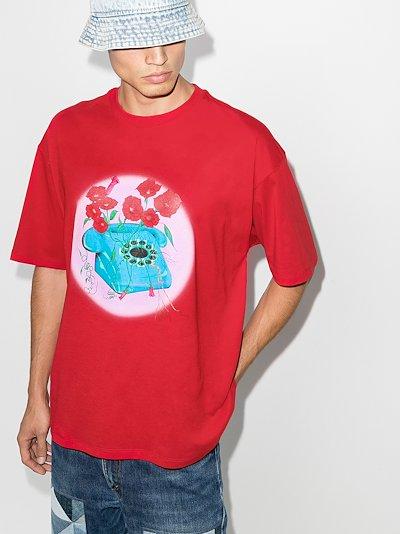 phone print T-shirt