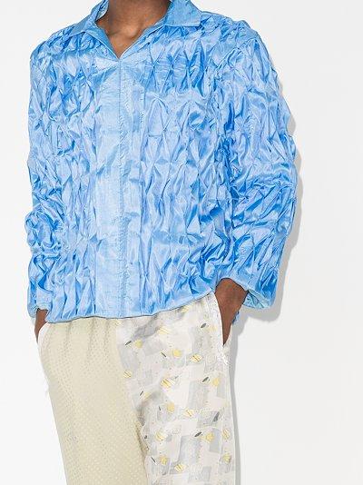 X Homecoming Tobi diamond pleated shirt