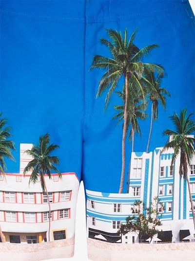 Bulldog Ocean Drive print swim shorts