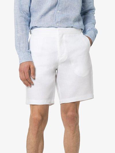 Norwich tailored linen shorts