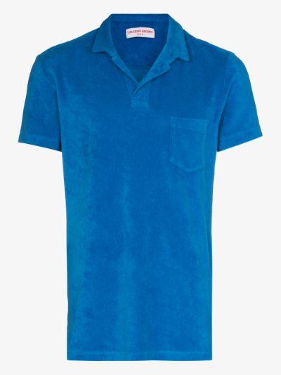 Short sleeve terry polo shirt
