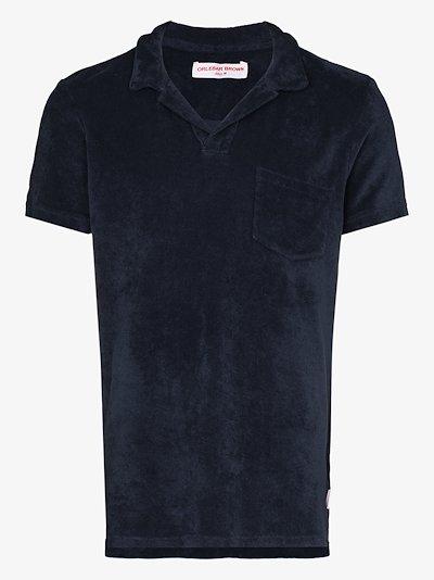 terry cotton polo shirt