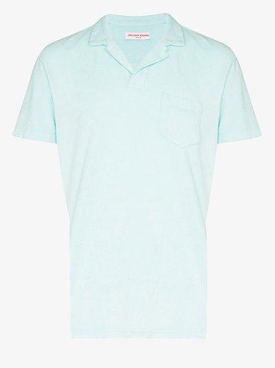 Terry towel cotton polo shirt