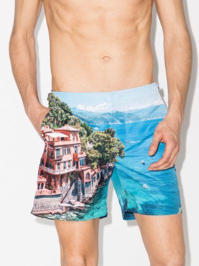X Stuart Cantor Bulldog swim shorts