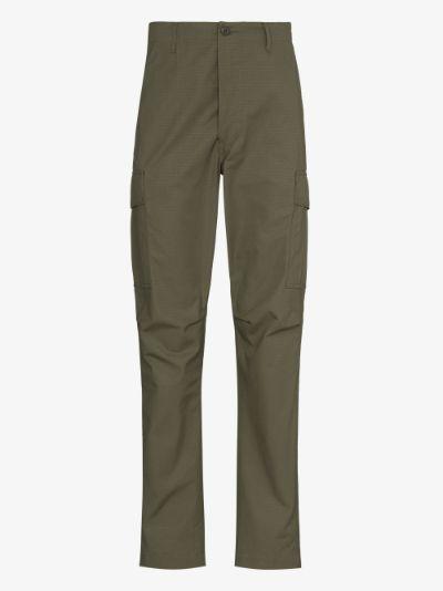 straight leg cargo trousers