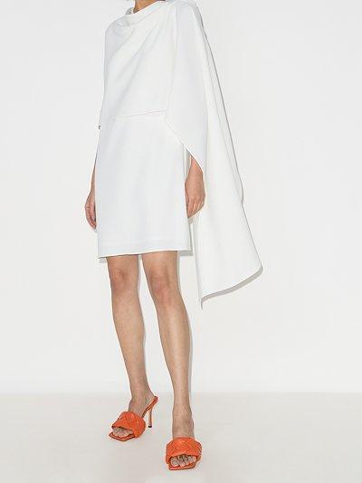 draped wool mini dress