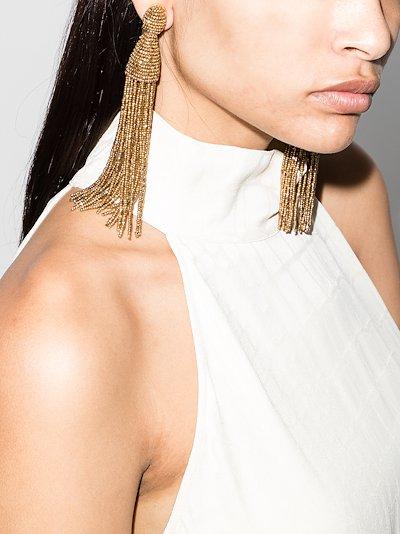 Gold tone Champagne tassel earrings