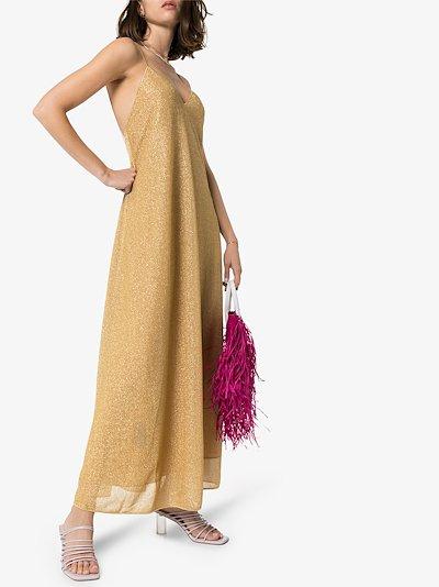 Lumière metallic maxi dress