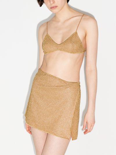 Lumière metallic mini skirt