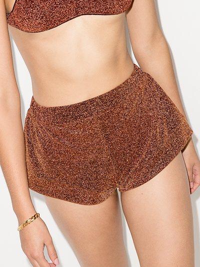 Lumière metallic shorts