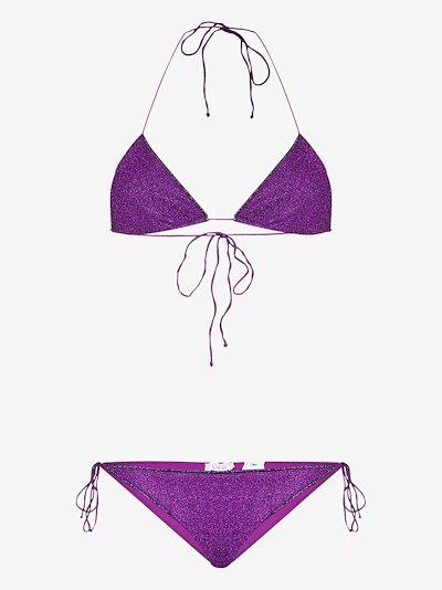 Lumiére metallic triangle bikini