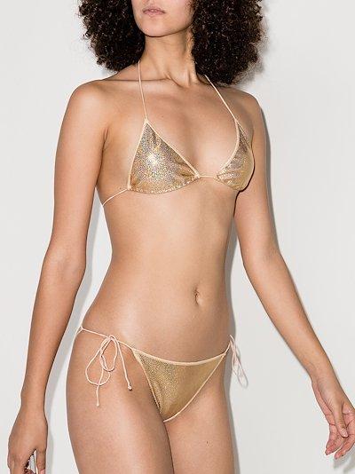 metallic micro bikini