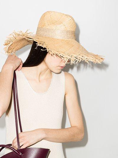 Neutral St Tropez Straw Hat