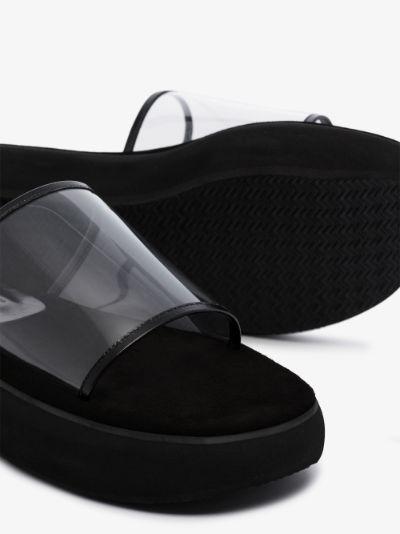Black boat 40 flatform PVC sandals