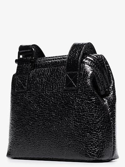 Black Brot wrinkled leather shoulder bag