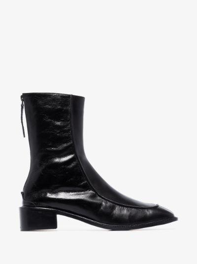 black Derrick Bulge 40 leather ankle boots