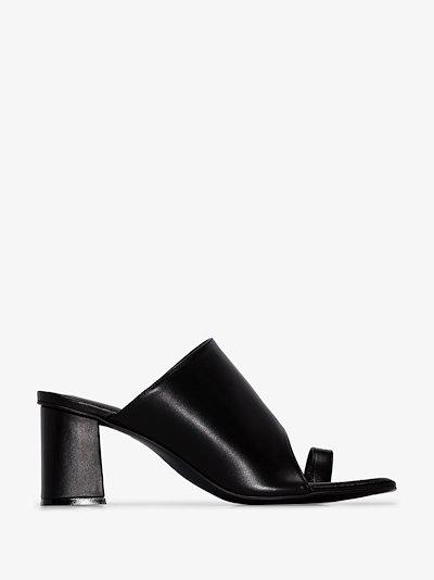 Black Tangle 70 square toe mules