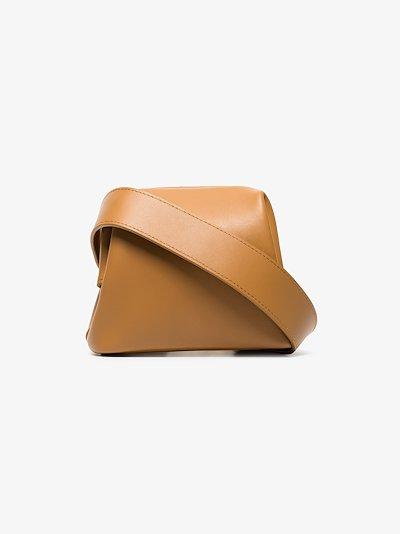 camel Peanut Brot leather belt bag