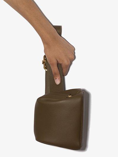 Green Peanut Mini Brot leather cross body bag