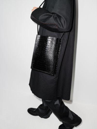 Black Sub leather tote bag
