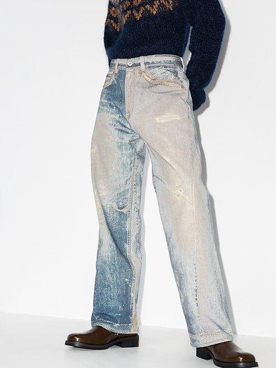 Third Cut trompe l'oeil print jeans