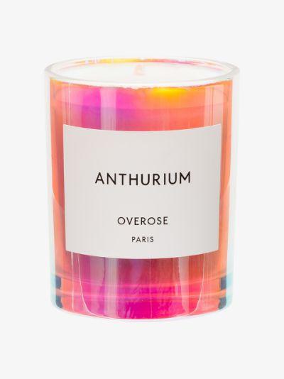 white Anthurium candle
