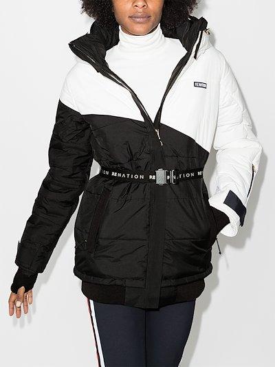 Black Run belted ski jacket