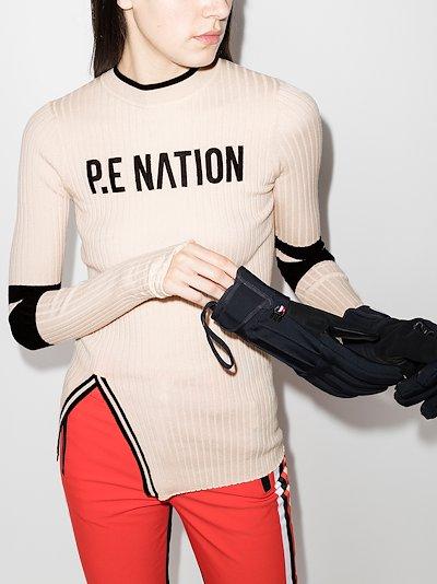 Black Run logo knitted sweater