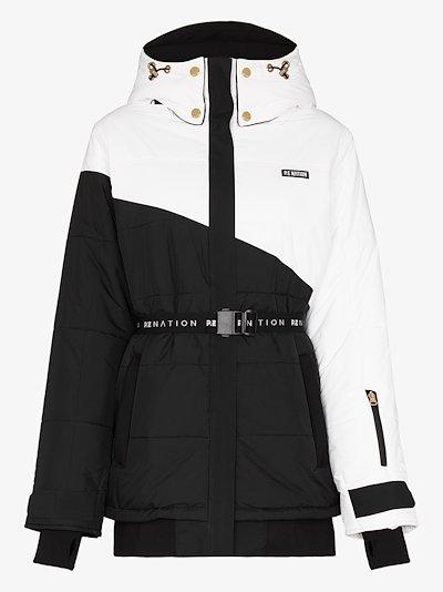 Slalom belted ski jacket