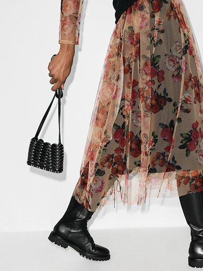black Pacoïo mini leather shoulder bag