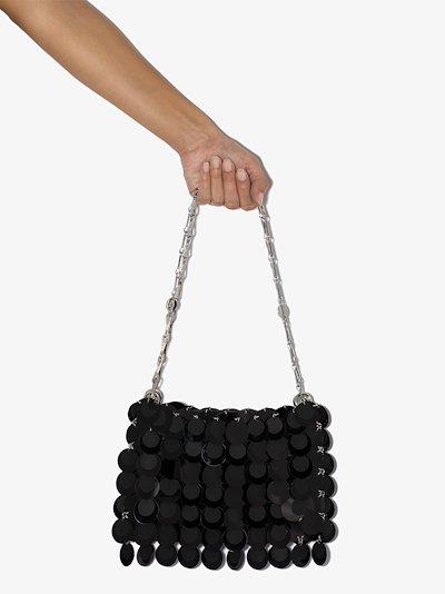 black sparkle hobo bag