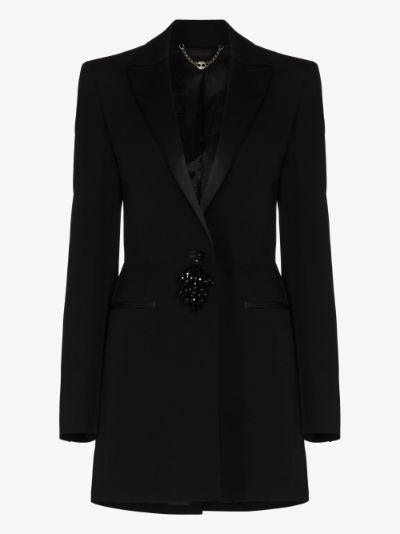embellished tassel blazer