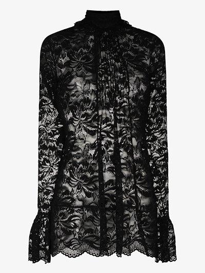 floral lace blouse