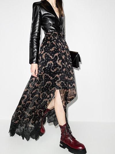 floral sheer silk skirt