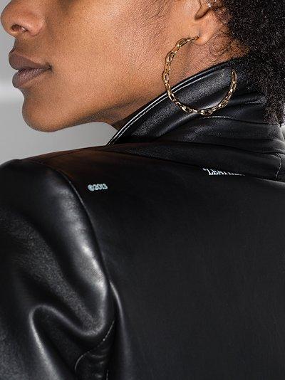 Gold tone link hoop earrings