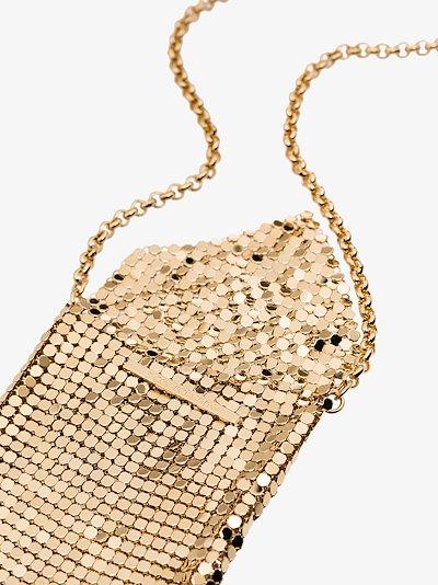 gold tone mesh pendant necklace