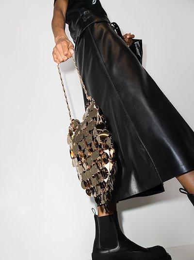 gold tone sparkle hobo shoulder bag