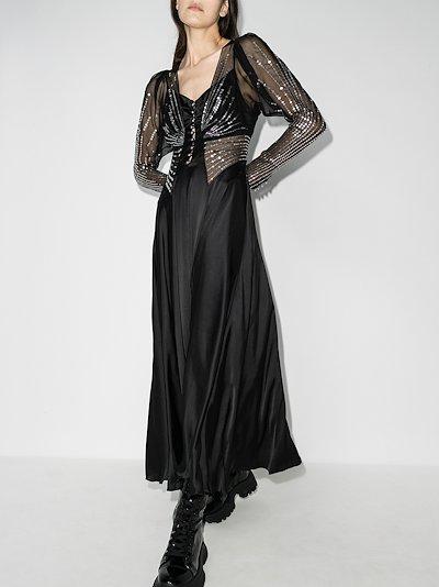 layered Sequin maxi dress